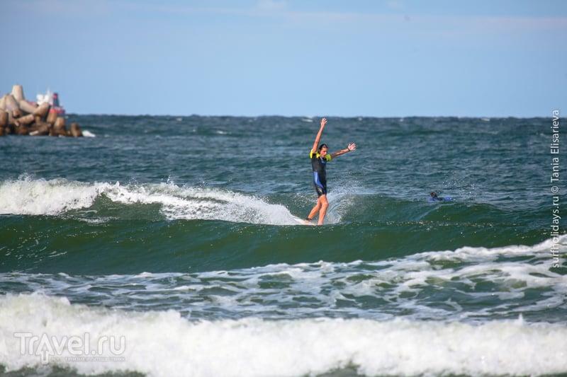 Серфинг в Калининграде. Город Балтийск / Россия