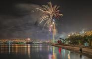 Новогодний фейерверк в Эйлате