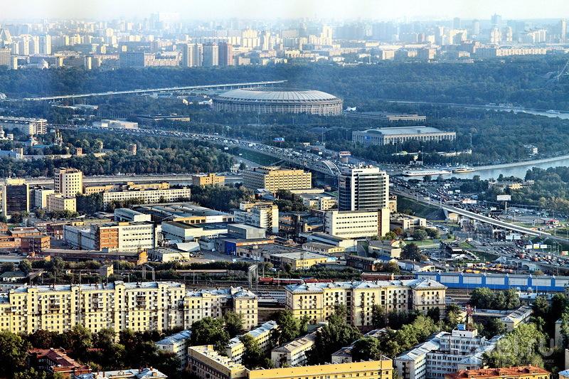 Москва с высоты птичьего полета / Россия