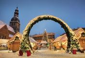 Новогоднее убранство Риги / Латвия