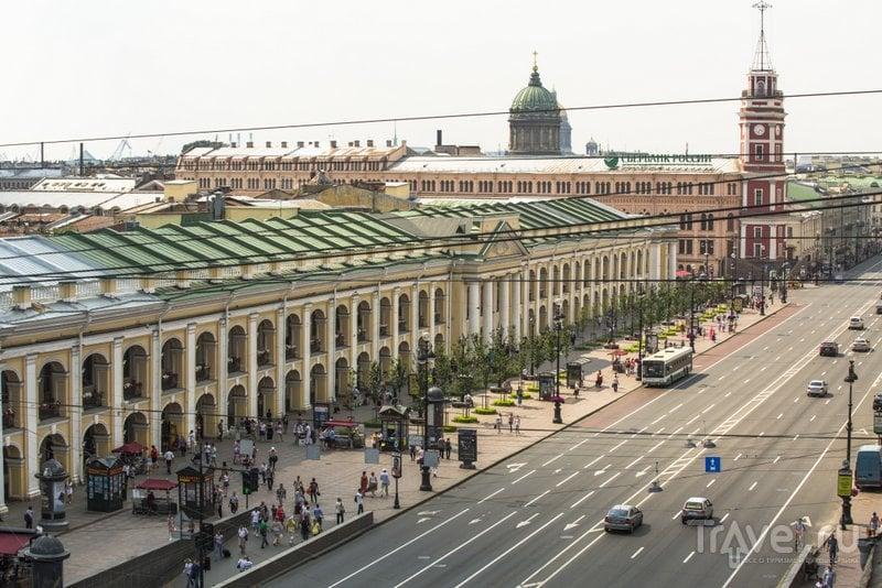 Вид на Невский проспект и Гостиный двор
