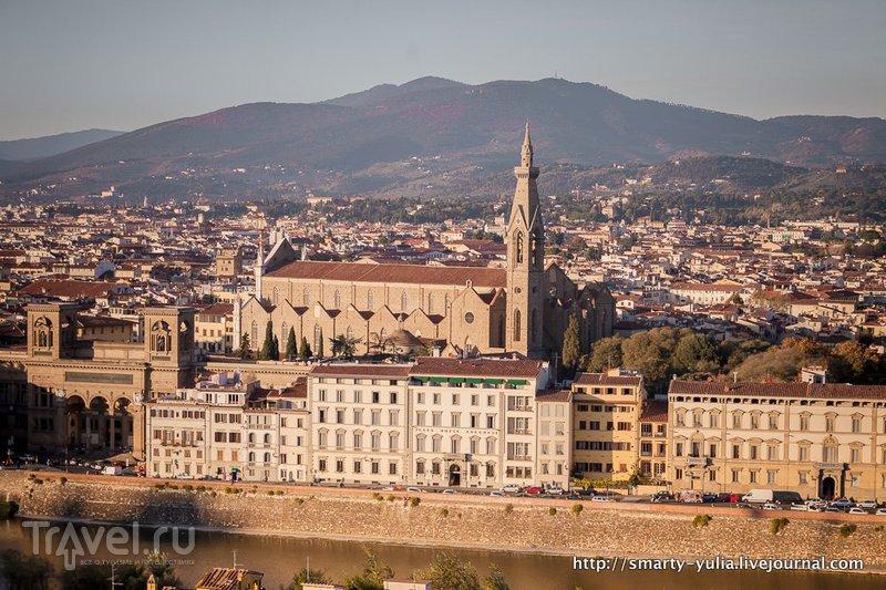 Флоренция, встреча заката на площади Микеланджело / Италия