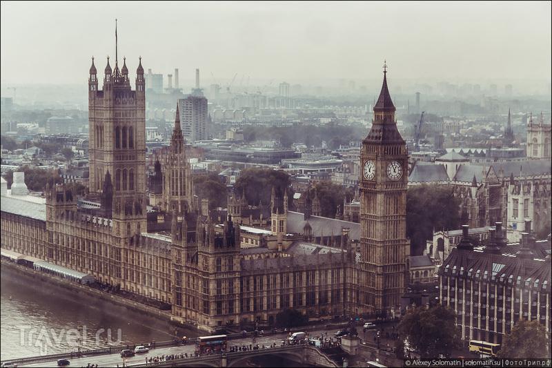 Лондон с колеса обозрения The London Eye / Великобритания