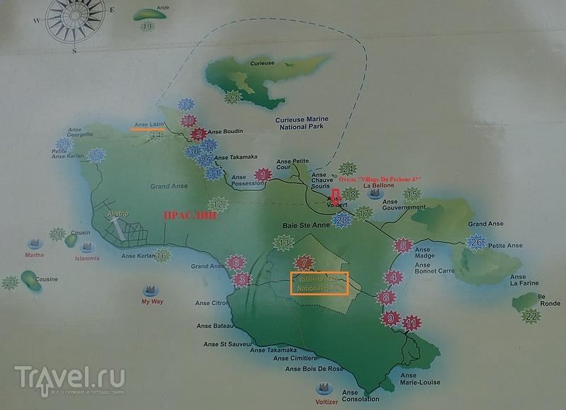 Сейшелы. Остров Праслин. Национальный парк Vallee de Mai. Пляж Анс Лацио / Фото с Сейшел