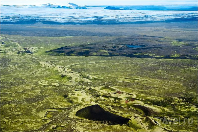 Красочная Исландия: полёт на самолёте / Фото из Исландии