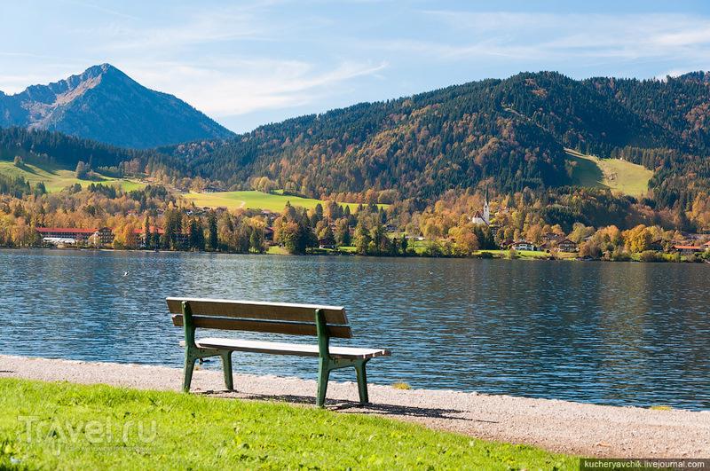 Озеро Тегернзее в Баварских Альпах / Германия