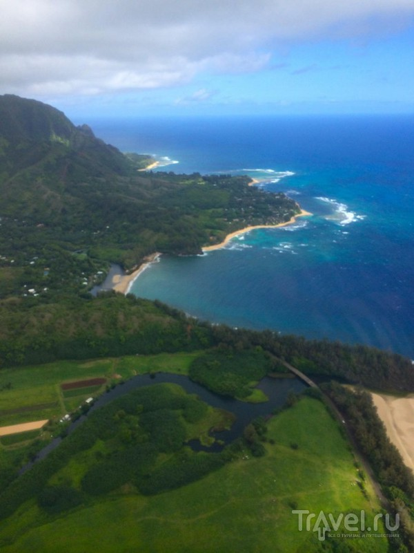 Вертолетом по Гавайям. Обзорный полет над о.Кауаи / США