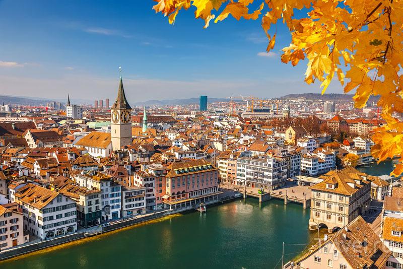 В ноябре в Цюрихе красиво