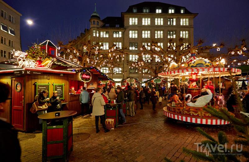 Рождественский рынок в Цюрихе