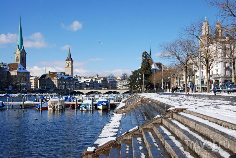 Солнечный Цюрих зимой