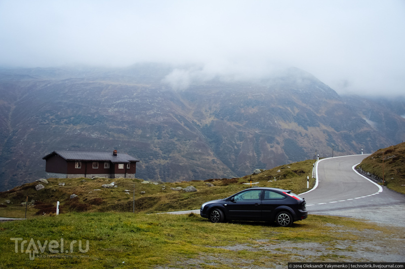 Странный поселок на горном перевале / Швейцария