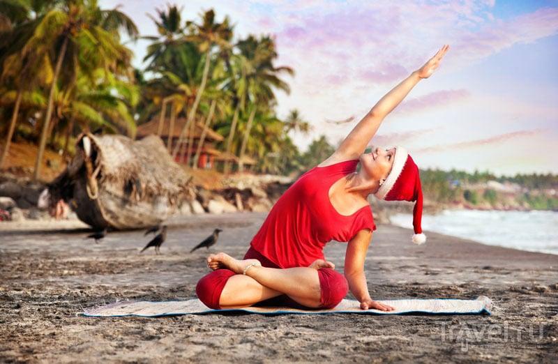 Новогодняя йога на пляже в Гоа