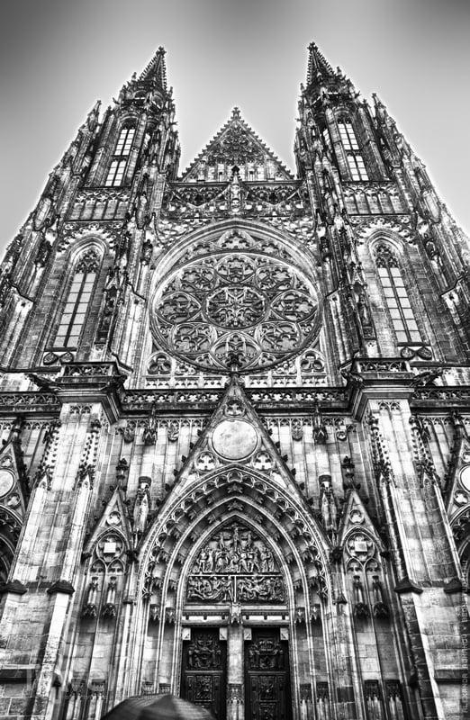 Готические соборы: Собор святого Вита в Праге и Собор святого Штефана в Вене / Австрия