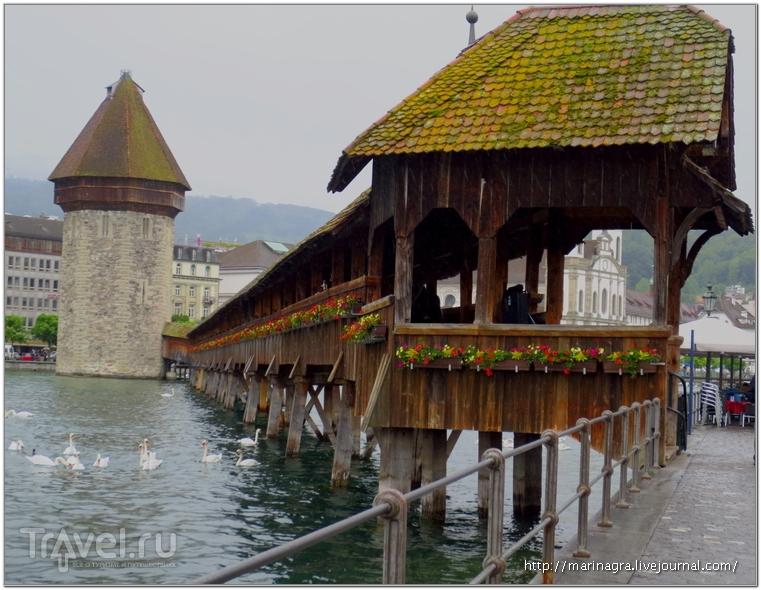 """Мосты Люцерна: """"Пляска смерти"""" на фоне Альп / Швейцария"""