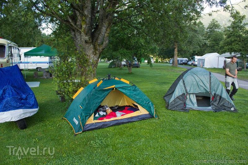 Кемпинг в Европе. Как это выглядит или жизнь в палатке / Швейцария