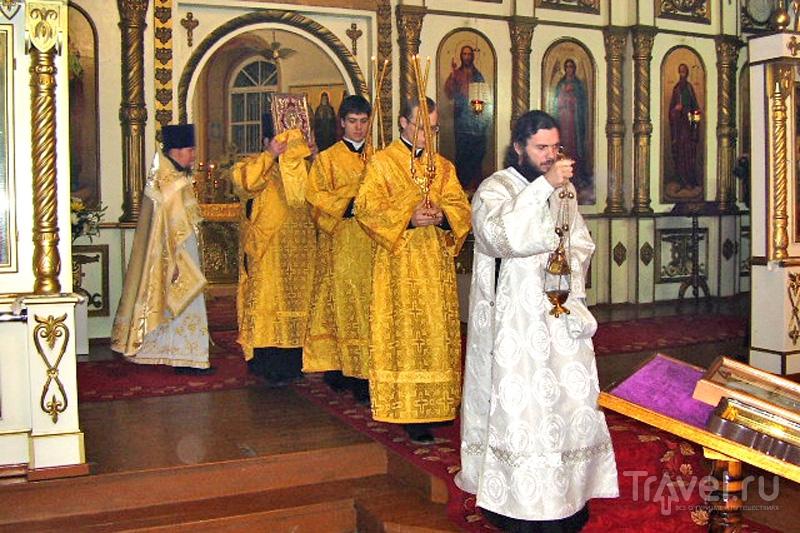 Богослужение в Белогорском монастыре