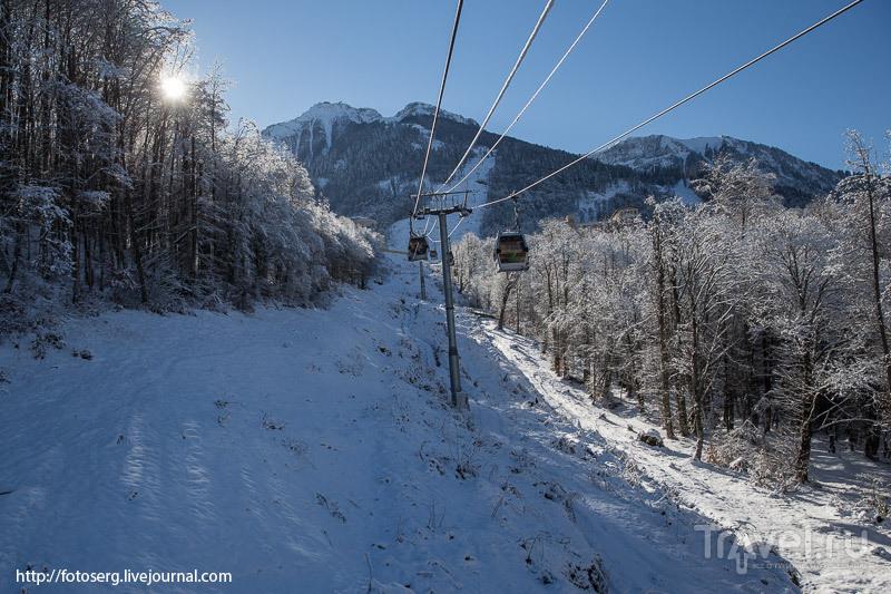 На Красную поляну пришла зима / Фото из России