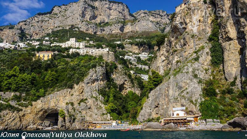 Амалфитана - уголок итальянского рая, виды с моря / Фото из Италии