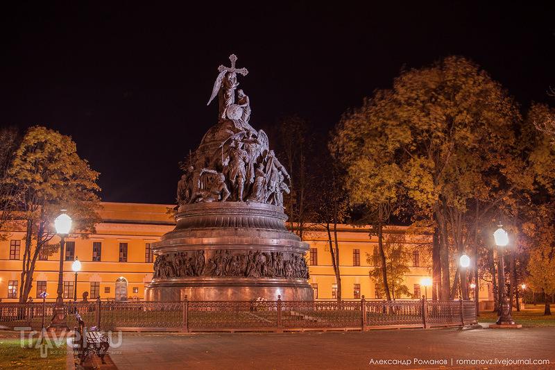 Ночной Великий Новгород / Фото из России