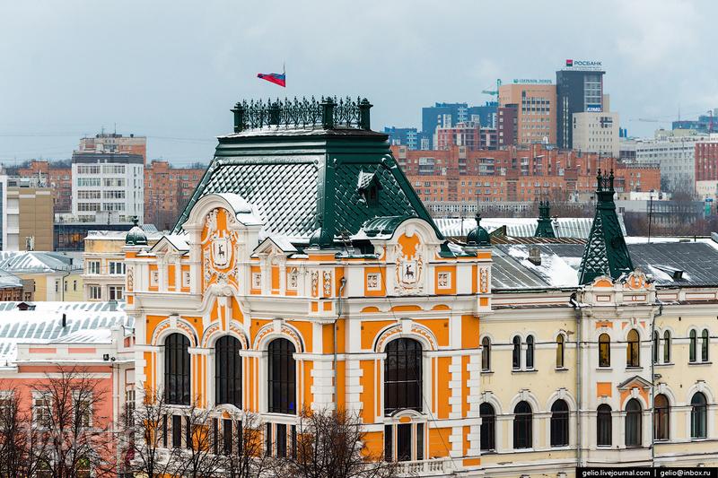 Зимний Нижний Новгород с высоты / Фото из России
