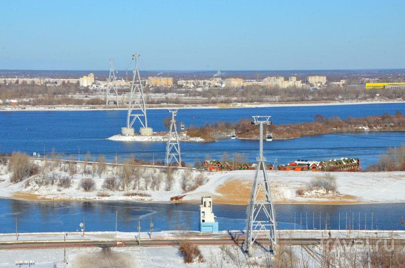 Канатная дорога в Нижнем Новгороде - самая длинная в Европе над водой / Россия
