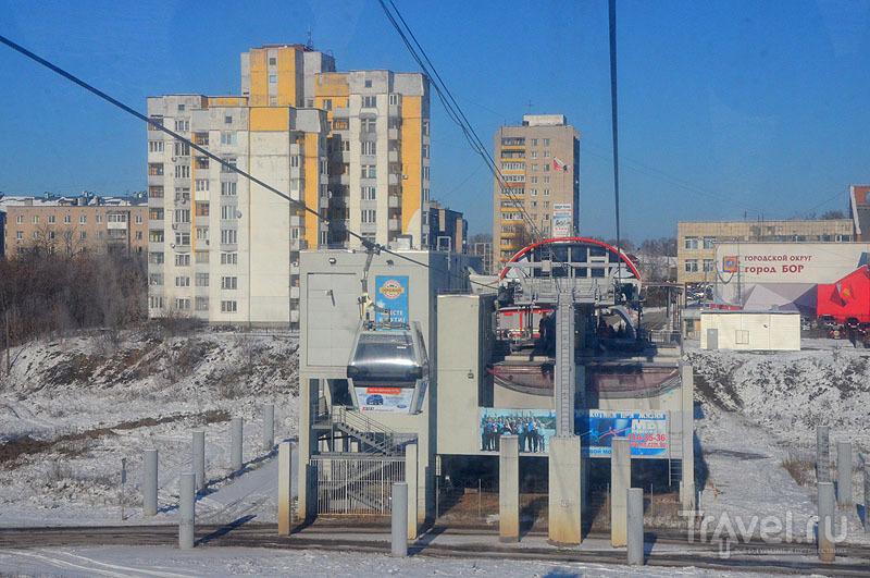 Канатная дорога соединяет Нижний Новгород и Бор / Россия