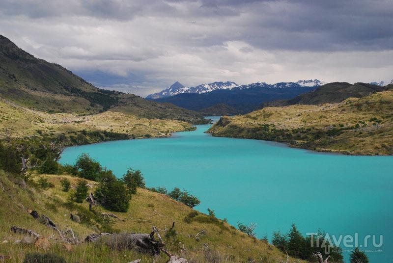 Натуральный цвет озера Пехое / Чили