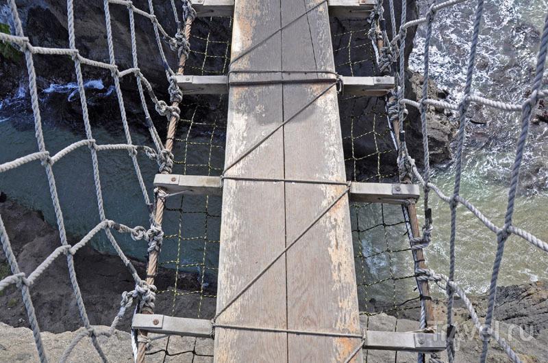 Подвесной мост Кэррик-а-Рид в Ирландии: прогулка над бездной / Великобритания