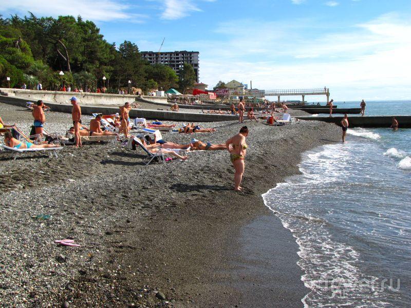 Адлер пляжа и города летом 52