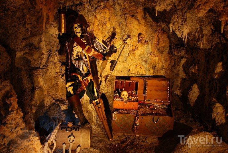 Сундук с сокровищами в Медвежьей пещере Сафари-Парка Геленджика