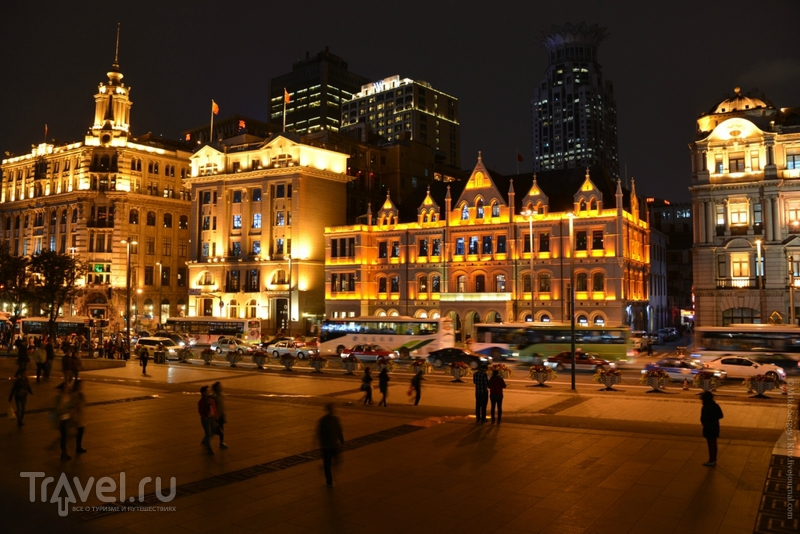Виды ночного Шанхая / Фото из Китая