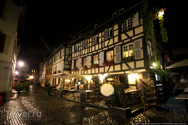 Ночной Страсбург / Фото из Франции