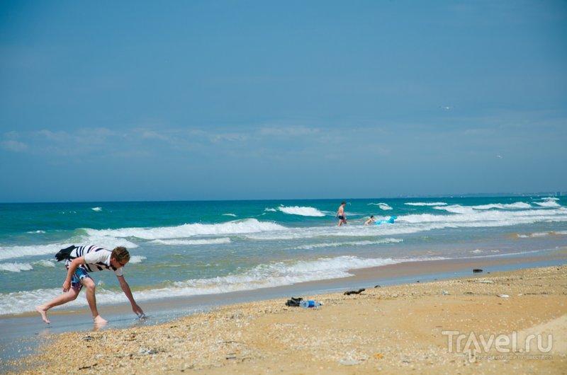 Песок в Витязево разный: есть совсем мелкий, есть более крупный ракушечник