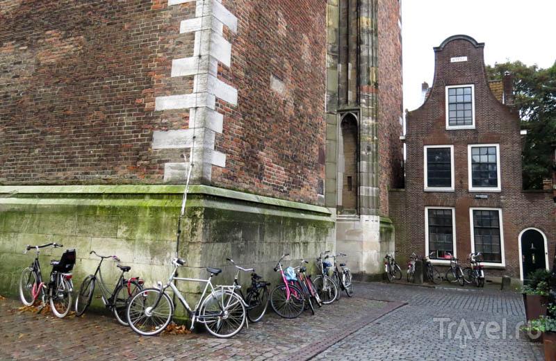 У стены колокольни собора Святого Мартина в Утрехте, Нидерланды / Фото из Нидерландов