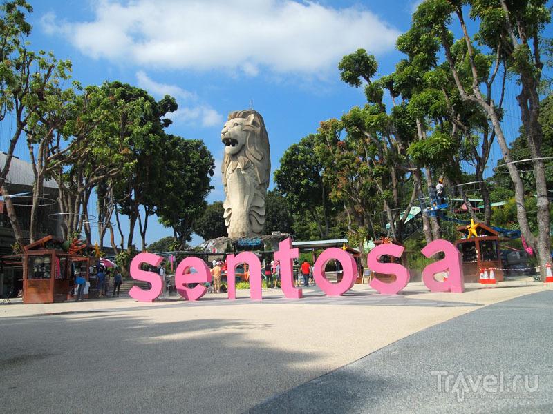 Площадь на острове Сентоза