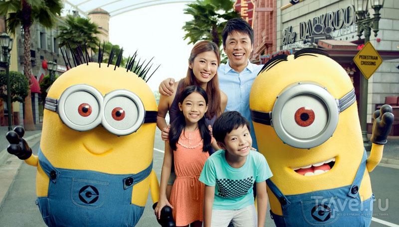 Детям особенно весело в Universal Studios Singapore