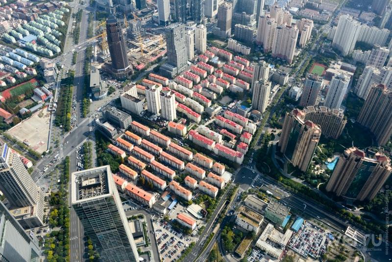 Как на самом деле выглядит Шанхай сверху? / Фото из Китая