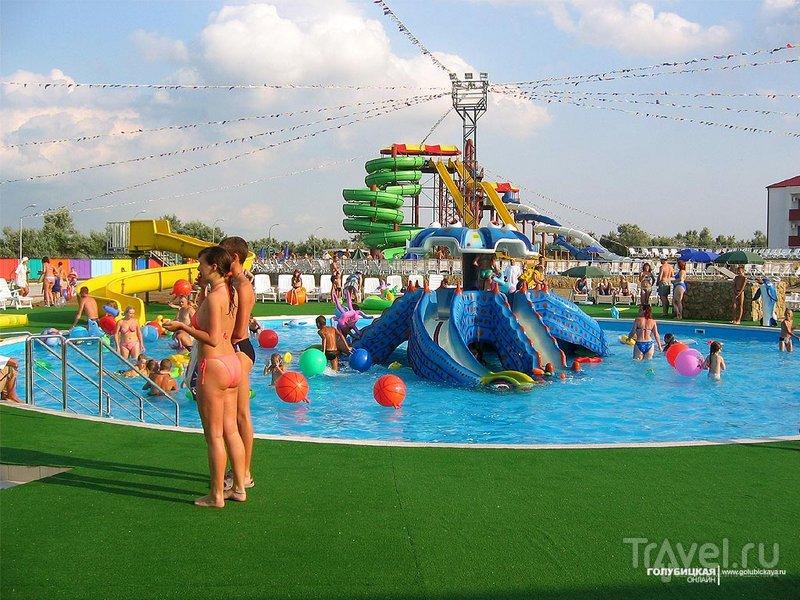 Детский бассейн аквапарка в Голубицкой