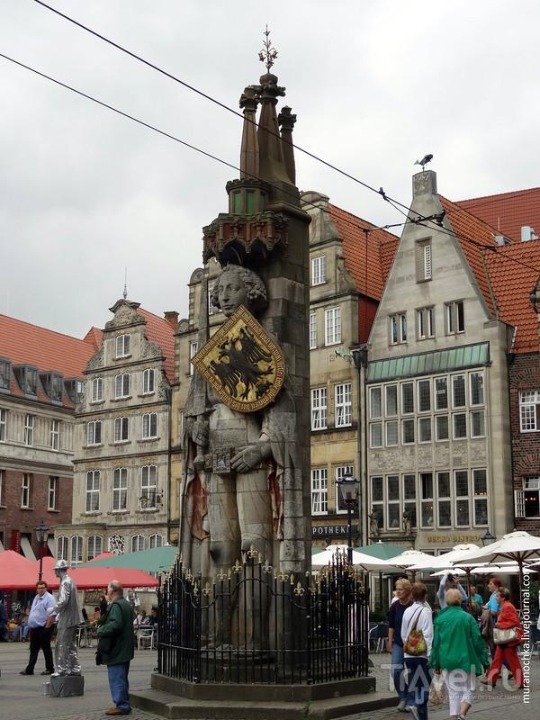 Бременские зарисовки: набережная Шляхте и площадь Марктплатц / Германия