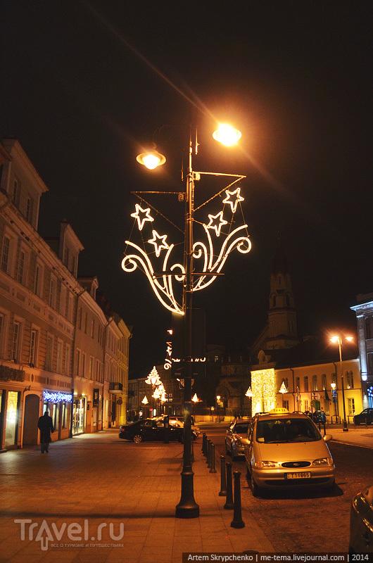 Новогодние украшения Вильнюса / Литва