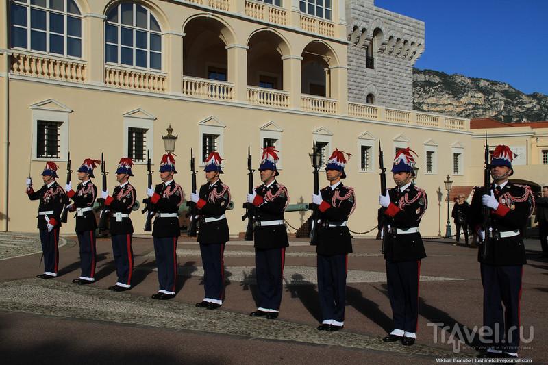 Торжественная смена караула у Княжеского дворца в Монако в честь рождения наследников престола / Монако