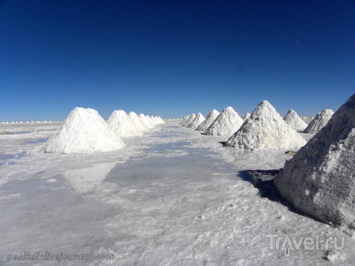Un gran viaje a America del Sur. Боливия. Салар де Уюни - самая близкая к Космосу соляная пустыня / Боливия