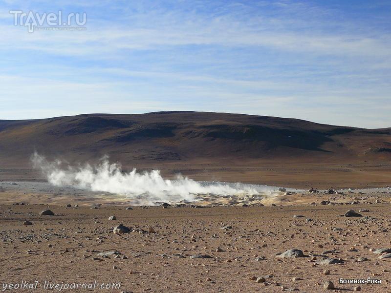 Боливия. Выход в космос. Гейзерное плато Sol de Mañana / Фото из Боливии