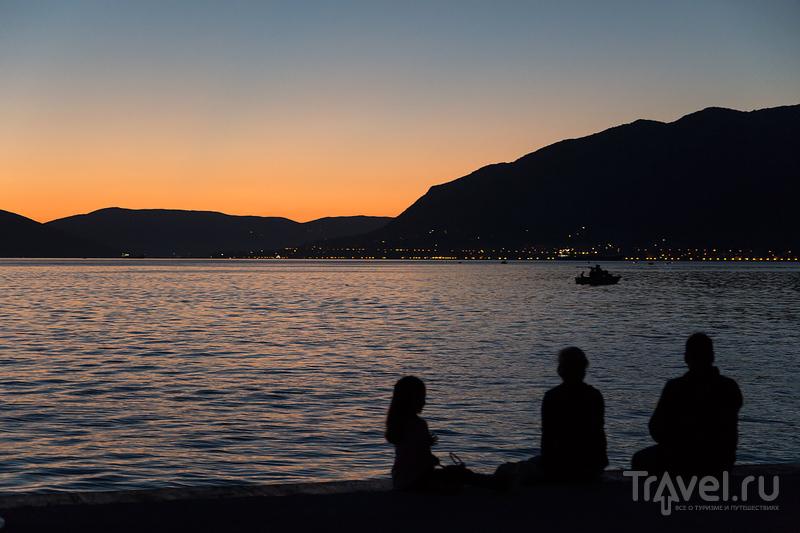 Вечерний Тиват и Porto Montenegro / Фото из Черногории