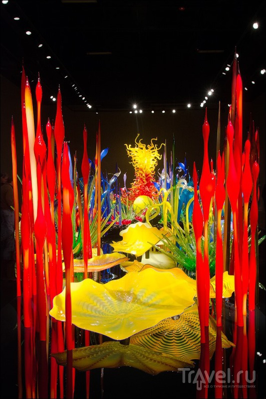 Достопримечательности центрального Сиэтла: космическая игла и музей стекла / США