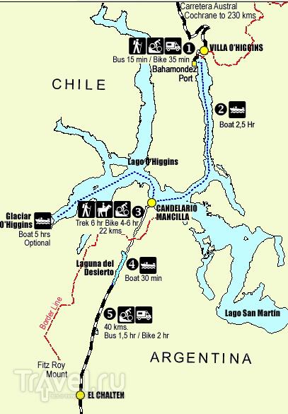 Переправа через озеро Сан Мартин - О'Хиггинс / Чили