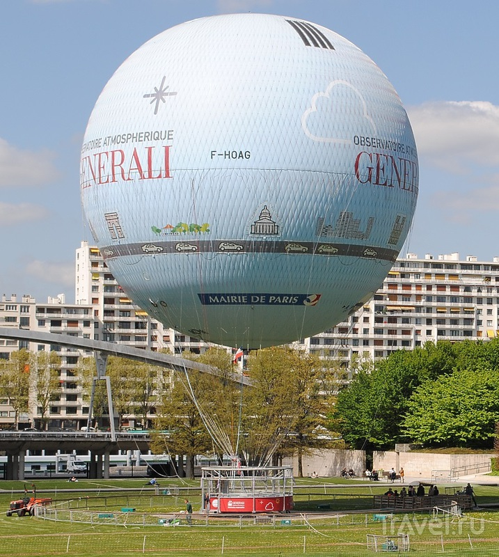 Воздушный шар. Парк Андре Ситроена (Париж)