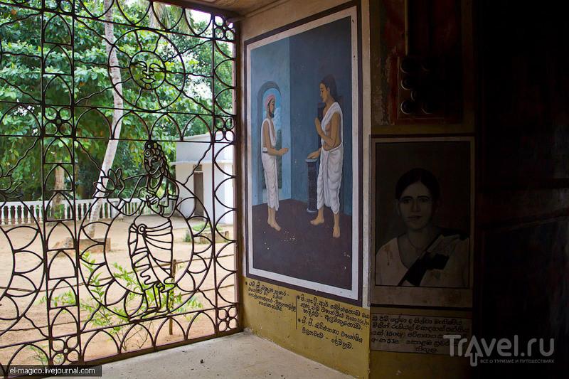 Храм с комиксами, место недавнего крушения корабля и звездный форт / Фото со Шри-Ланки