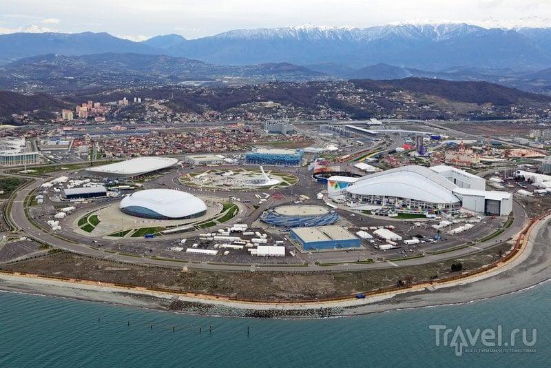 Схема Олимпийского парка Сочи