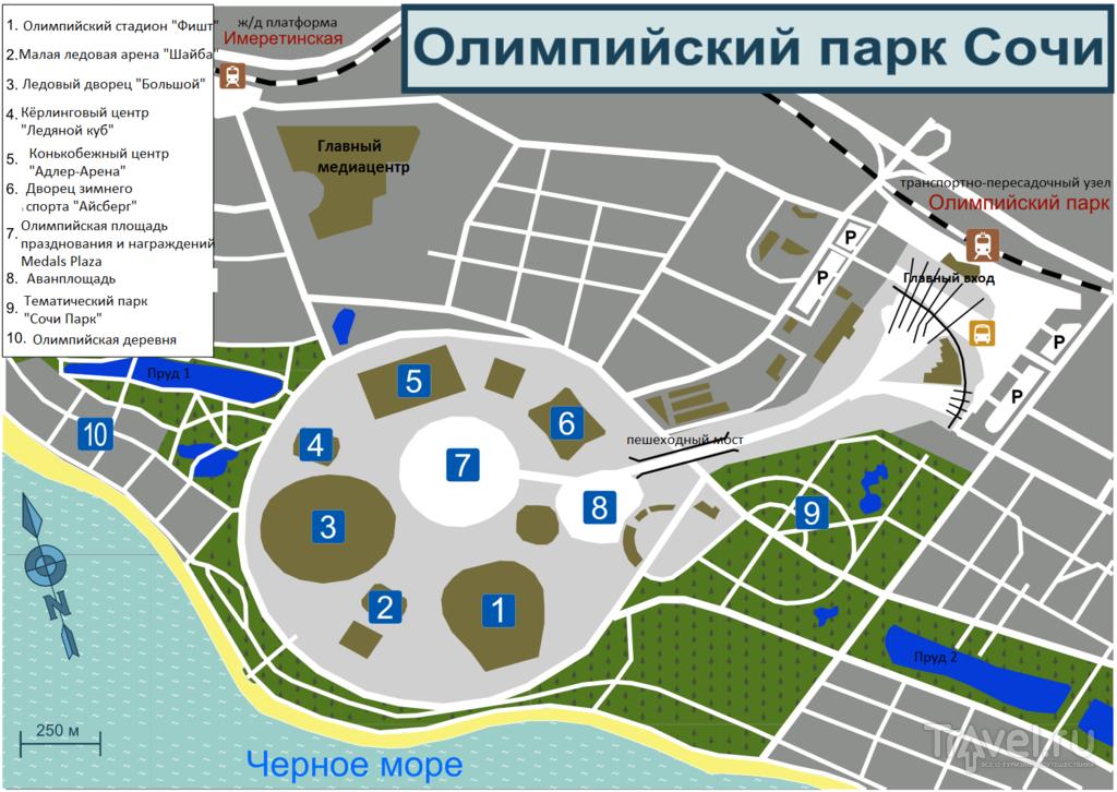 Карта и схема Олимпийского